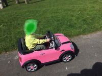 Pink Mini Hatch 6V Electric Ride On