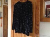 Heavy beaded black jacket lg/exlg