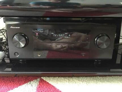 Surround sound system with amp