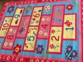 Brand new Girl's bedoroom / kids play area hopscotch rug