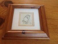 Winnie the Pooh sketch Framed