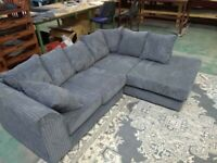 HURRY UP New Dylan Jumbo Cord 3+2 Sofa set&Corner suite Available in Differen