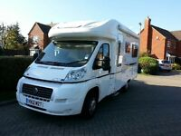 BESSACARR E460 2BERTH LUXURY MOTORHOME 4,500 MILES.IMMACULATE. LCD TV. AWNING. BIKE RACK.READY TO GO