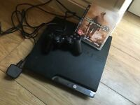 PLAYSTATION 3 with leads, controller and COD game.