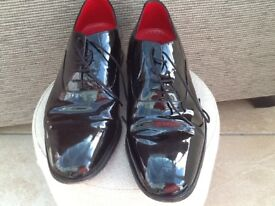 Marks & Spencers Mens Black Patent Leather Shoes