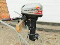 15hp Mercury Mariner Marathon Mercury Outboard motor boat engine Fishing dory rib, 2010. Longshaft.