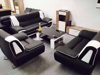 30 DAYS MONEY BACK GUARANTEED - TOP QUALITY CAROL Faux Leather CORNER and 2+3 Sofa