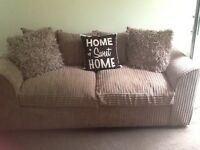 3&2 seater sofa and footstool