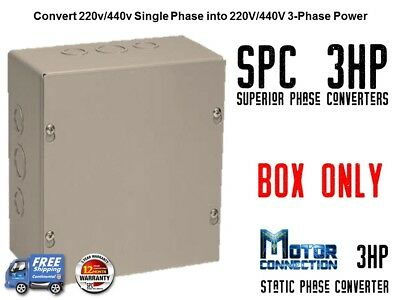 Static Phase Converter - 3 Hp - Create 3 Phase Power From Single Phase Supply