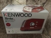Brand New Kenwood Turbo Toaster Red RRP £80