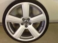 18INCH 5STUD RS6 ALLOY WHEELS WITH TYRES FIT AUDI VW SEAT
