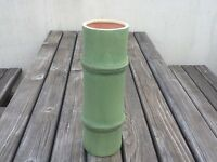 Vase bamboo natural green