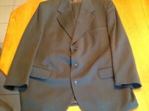 2 pieces men's suit dark green