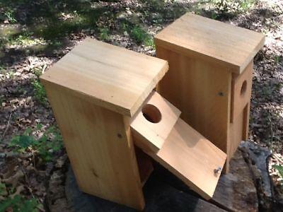 1 Wood Bird House Cedar Bluebird House Blue Bird  Quality Handmade Garden Gift