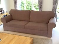 Large sofa with matching armchair. £120 for both