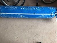 BRAND NEW UNOPENED ROLL OF MIDAS UNDERLAY FOR CARPETS