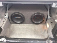 "Soundstream Car Subwoofer 10"" brand new - 2 days old x 2 + custom sub box"
