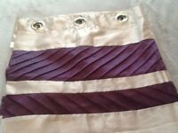 Beige/lilac full length curtains for sale