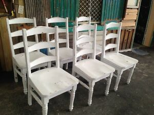 6 solid timber chairs Miami Gold Coast South Preview