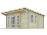 5,5 x 3,5 m (44 mm) Premium Log cabin