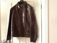 Next Leather Men's Jacket ( Worn Once! Cost £200!). Bargain £50!!