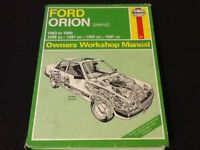 Ford Orion maual