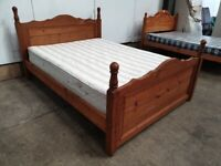 Pine Double Bed Frame DORLUX Mattress Used Furniture
