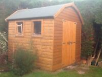 Dutch Barn style shed. 8ft by 8ft