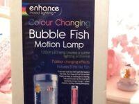 Colour changing bubble fish motion lamp