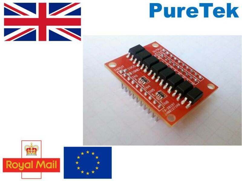 PC817, 8 channel opto-isolator breakout for Arduino, optoisolator, optocoupler