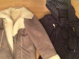 Girls next suede coat & Tu jacket age 7-8