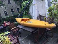 Kayak canoe plastic with paddle
