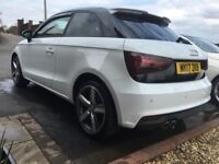 AUDI A1 WHITE 2017 1.4 S LINE REP LOW MILES SPORT ALLOYS PARKING SENSORS TINTED WINDOWS