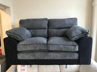 Luxury Delta 2 seater sofa-grey-NEW