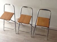3 Quality Folding Bar Stools