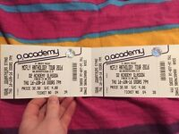 2 McFly tickets Fri 16th September O2 Academy Glasgow