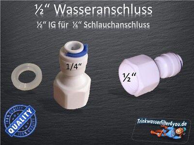 Wasseranschluss SBS Kühlschrank Umkehrosmoseanlage 1/2