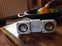 IXOS fold up portable iPod speakers
