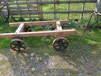 4 Wheel Stationary engine or generator carrier