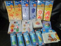 LARGE ASSORTMENT OF WINNIE THE POOH DECORATING ITEMS 4 STENCILS,5 BORDERS ,2 PACK STAMPERS