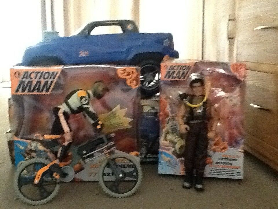 Action jeep,driller extreme,bike extreme