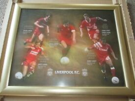Liverpool football picture framed