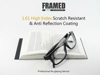 Glasses In-House Reglazing Service 1.61 High Index Single Vision Anti Glare & Scratch Resistant