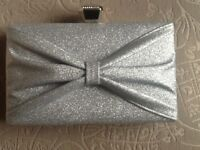 Lovely silver hand bag, new without tag