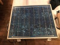 BP SX20U SOLAR PANEL WITH BATTERY AND SOLAR CONTROLLERS
