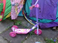 Girls pink ben and holly's scooter