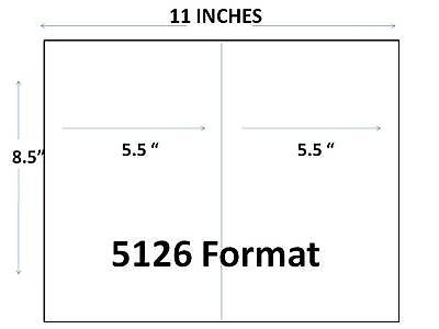 2 000 Half Sheet   Labels 8 5 X 5 5 For  2 Up  Template Self Adhesive