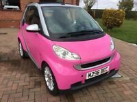 convertible pink smart fortwo