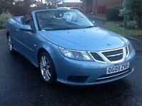 Saab 93 vector 1.9 tdi convertible automatic fsh 2009 leather seats