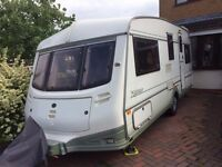 ABI Nightstar 5 berth touring caravan with motomover and awning
